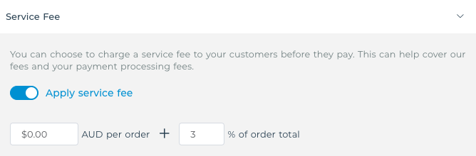 How to cover VaocherApp fee only